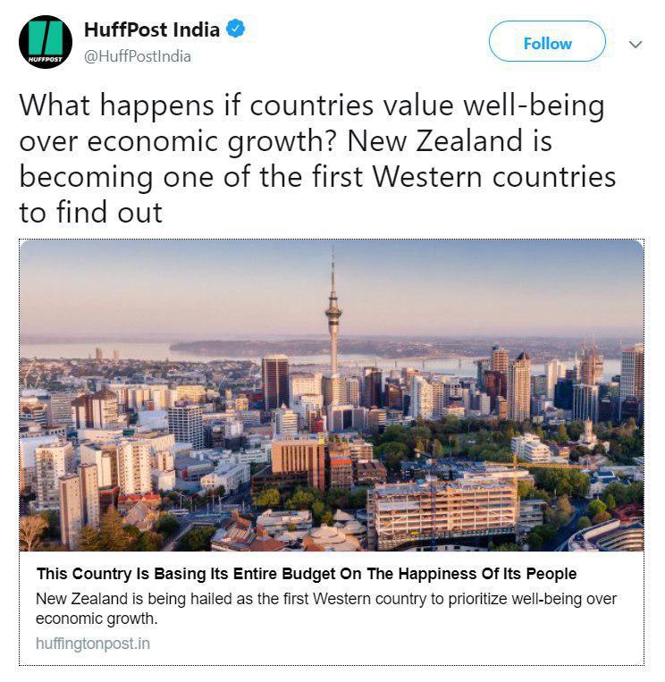 دولت نیوزیلند اعلام کرده است تمام بودجه امسال کشورش را خرج شاد کردن مردمش میکند!