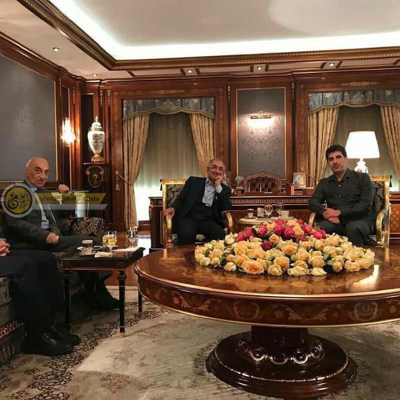 دیدار صادق زیباکلام با نچیروان بارزانی (نخست وزیر اقیلم کردستان عراق)