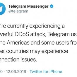 تلگرام دقایقی پیش اعلام کرد، سرورهایش زیر حملات شدید DDoS میباشد