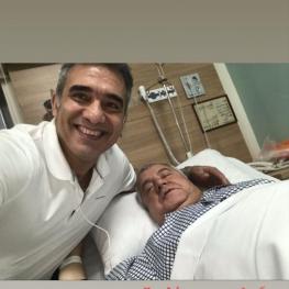 استوری عابدزاده و آرزوی سلامتی برای علی پروین