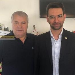 عیادت آذری جهرمی از علی پروین پیشکسوت پرسپولیس