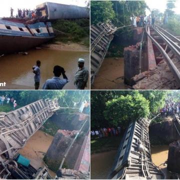 سقوط مرگبار قطار در «مولوی بازار» بنگلادش