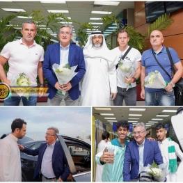 «برانکو» سرمربی سابق پرسپولیس با استقبال مسوولان و هواداران الاهلی عربستان وارد جده شد