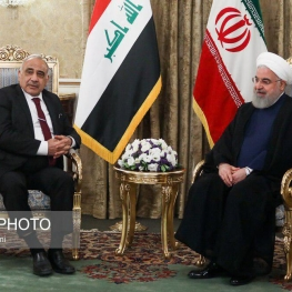 ورود نخست وزیر عراق به تهران و دیدار با رییس جمهور