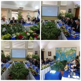 دیدار و گفتگوی وزیر امور خارجه جمهوری اسلامی ایران با وزیران و مقامات بلند پایه دولت نیکاراگوآ