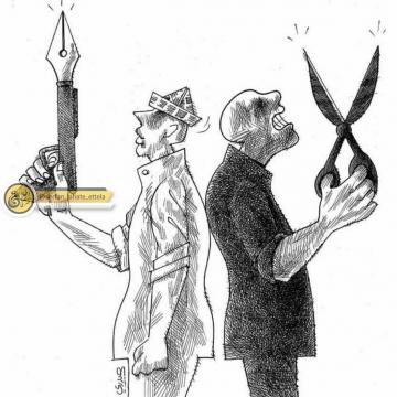 کاریکاتور بمناسبت روز خبرنگار