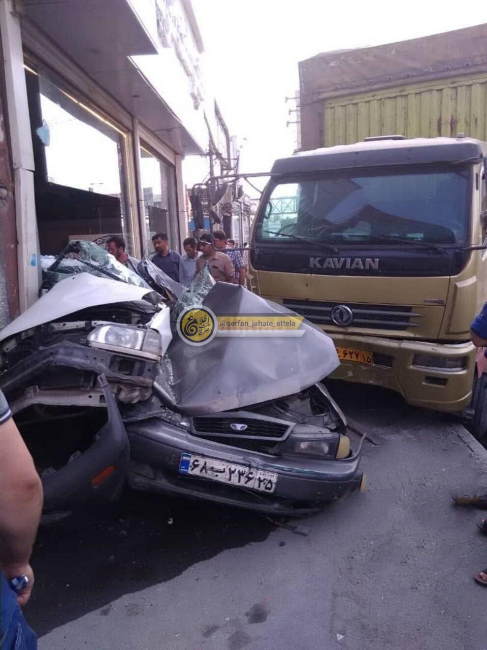 تصادف وحشتناک در میدان بسیج تـبـریـز