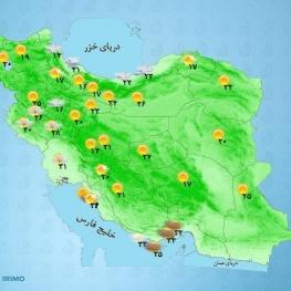 آسمان تهران امروز کمی ابری در بعدازظهر افزایش ابر گاهی وزش باد و احتمال بارش پراکنده پیشبینی میشود.