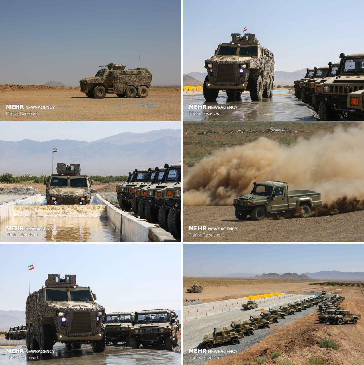 رونمایی از دو خودروی نظامی پیشرفته