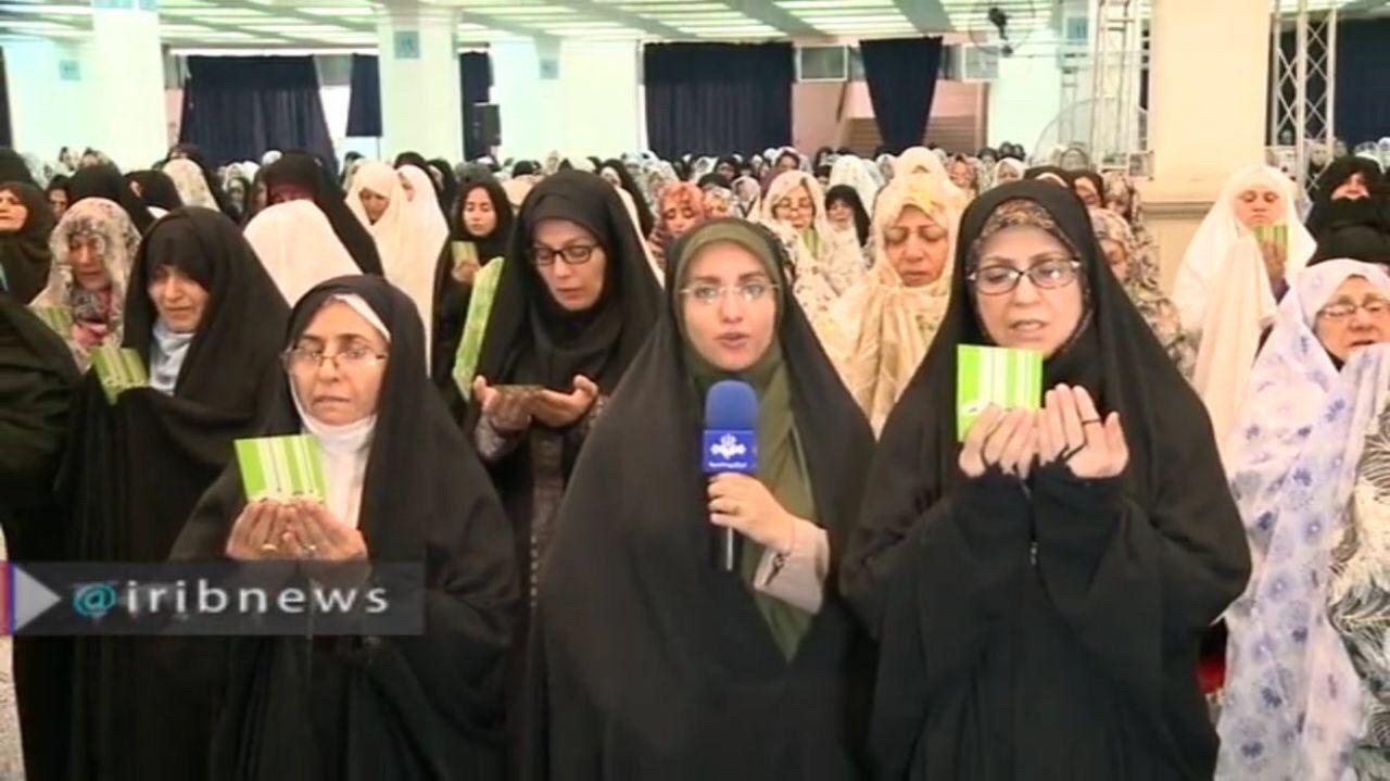 گزارش عجیب تلویزیون از نماز عید قربان