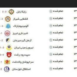 نتایج نهایی هفته اول لیگ دسته اول فوتبال فصل ۹۸-۹۹