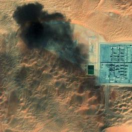 تصویر ماهواره ناسا از حمله یمنیها به تاسیسات نفتی عربستان