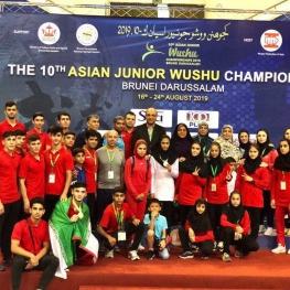 سکوی نایب قهرمانی آسیا زیر پای ووشوکاران ایران