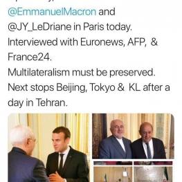 توییت ظریف در پایان تور اروپایی
