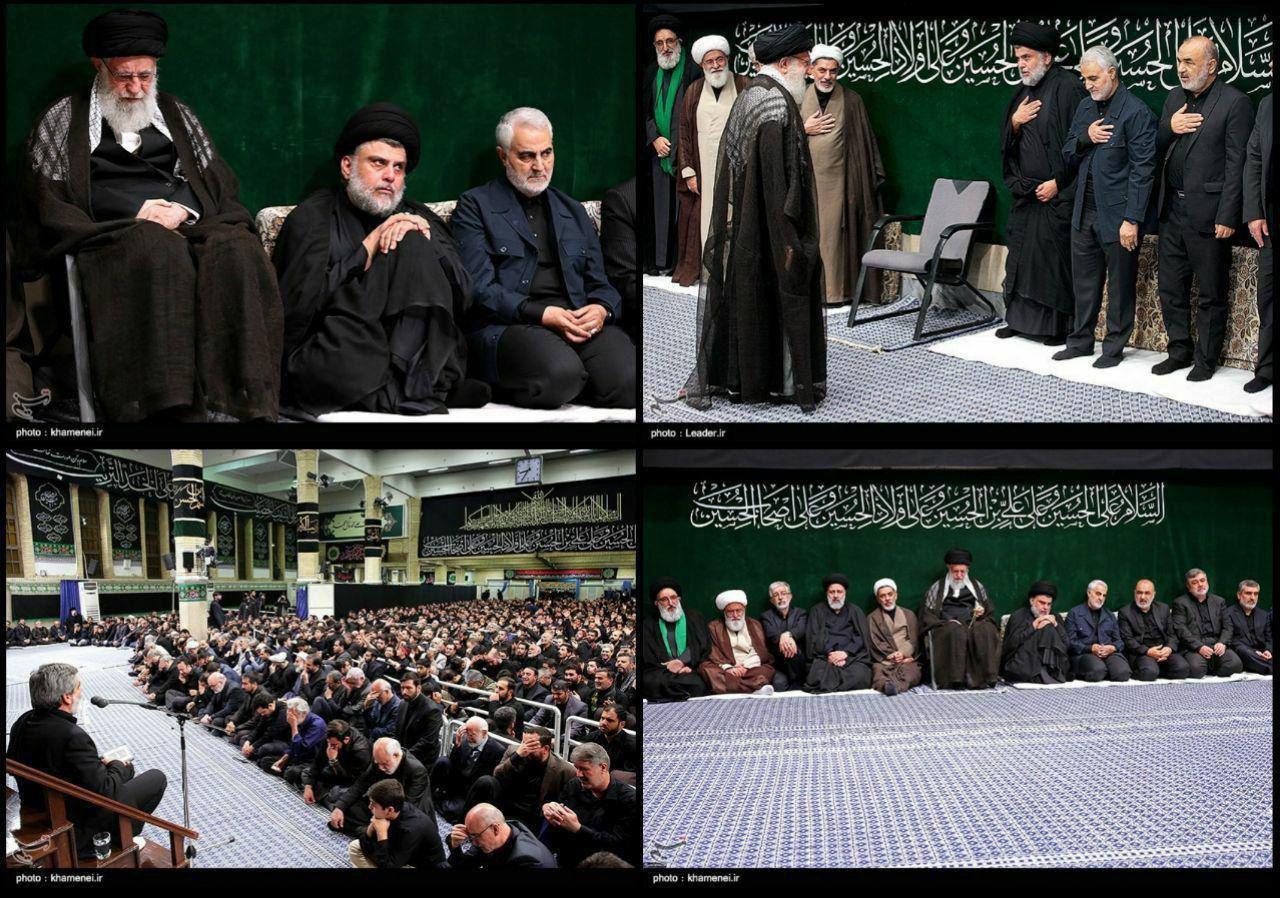 تصویر: حضور مقتدی صدر، روحانی و سیاستمدار ارشد شیعه عراقی، در کنار رهبرانقلاب،