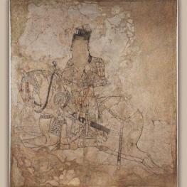 نمایش کهنترین نقاشی دیواری صدر اسلام در موزه ملی ایران