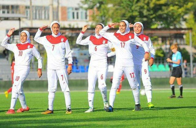 پیروزی دختران فوتبالیست ایران در تورنمنت کافا
