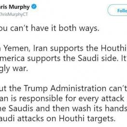 توئیت یک سناتور دموکرات: در یمن ایران از حوثیها حمایت میکند