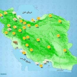 آسمان تهران صاف پیشبینی میشود و تا روز چهارشنبه بیشینه دمای تهران به ۳۵ درجه افزایش مییابد.