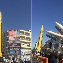 موشک های سپاه به دریاچه چیتگر تهران میآیند