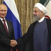 رؤسای جمهوری ایران و روسیه دیدار کردند