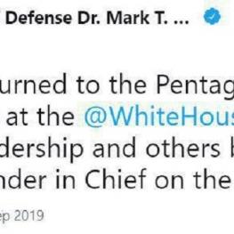 جلسه کاخ سفید با حضور مقامهای ارشد وزارت دفاع آمریکا با رئیسجمهور
