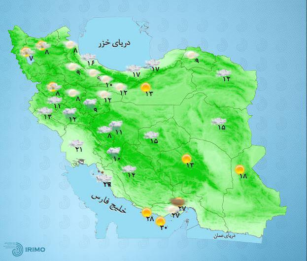 هواشناسی در بیشتر مناطق رگبار باران، رعد و برق و وزش باد پیشبینی کرد.