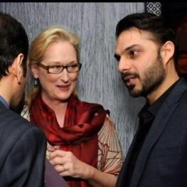 پیمان معادی و اصغر فرهادی در کنار ستاره زن هالیوود