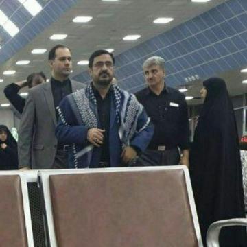 تصویر: سعید مرتضوی در بازگشت از پیاده روی اربعین