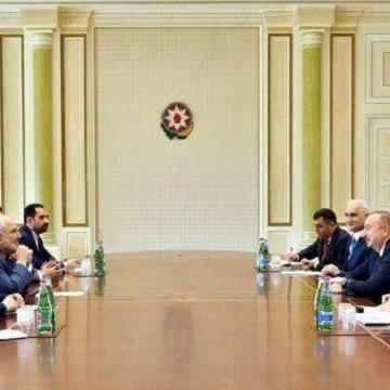 جواد ظریف با الهام علی اف رئیس جمهور آذربایجان دیدار کرد.