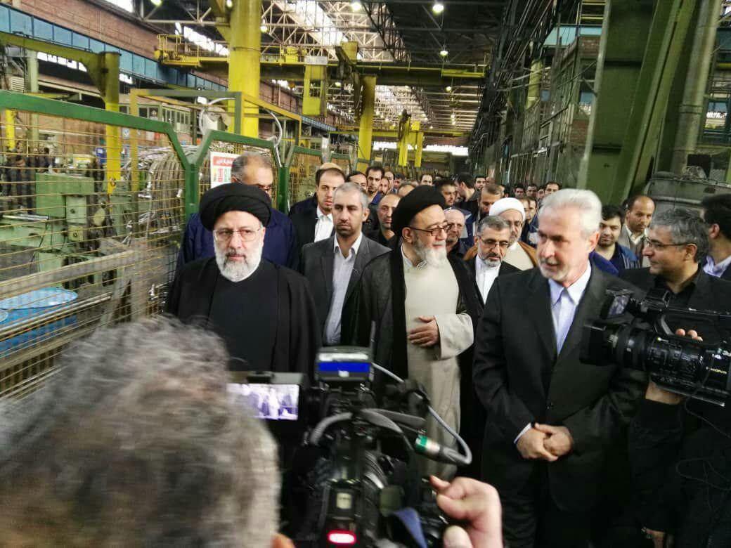 دیدار سر زده رئیس قوه قضاییه به کارخانه ماشینسازی تبریز