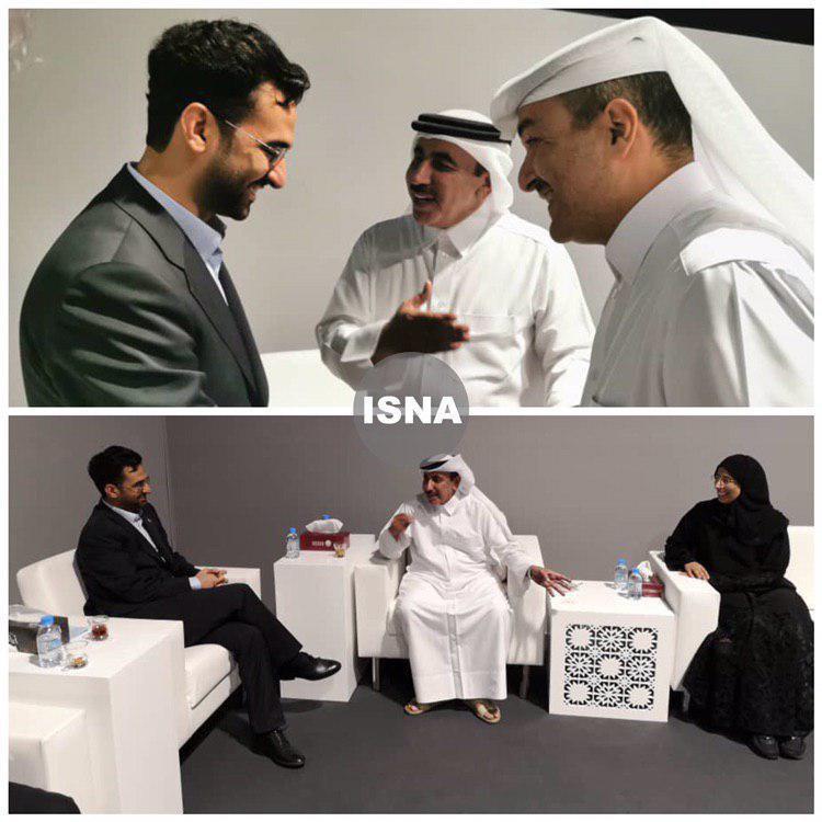 جلسه همزمان آذری جهرمی با سه وزیر قطری