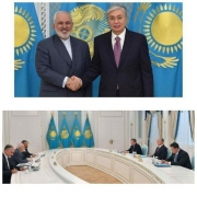 دیدار ظریف با رئیس جمهوری قزاقستان
