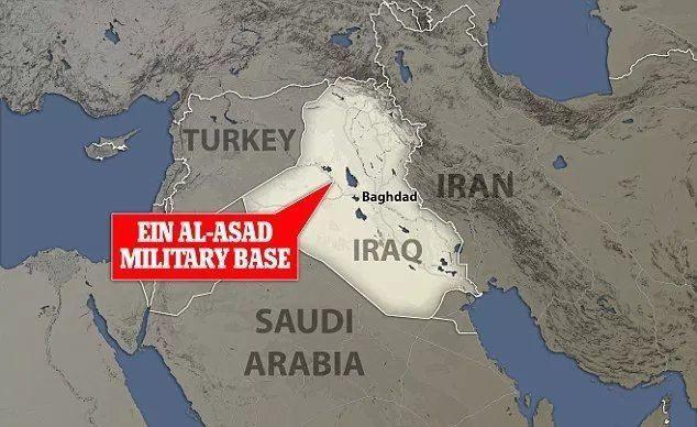 اصابت پنج موشک به نزدیکی پایگاه آمریکایی در عراق