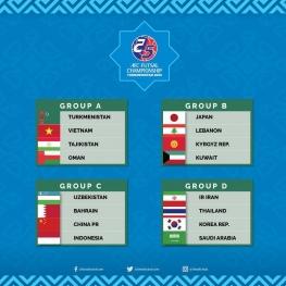 فوتسال قهرمانی آسیا: همگروهی ایران با عربستان