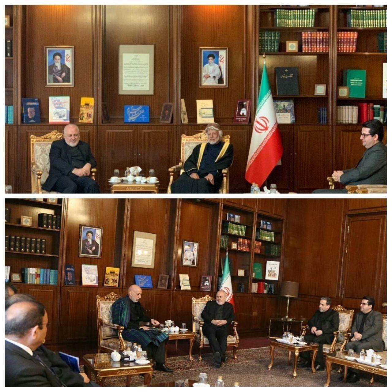وسف بن علوی و حامد کرزای از میهمانان ویژه مجمع گفتگوی تهران