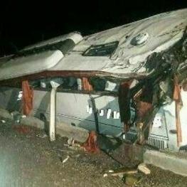 واژگونی اتوبوبوس مشهد-بندرعباس ۷ کشته برجای گذاشت
