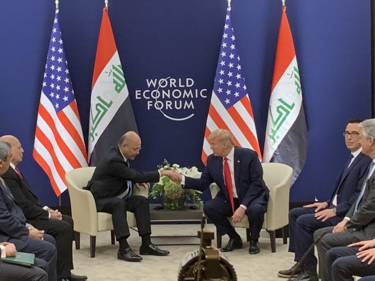 علیرغم مخالفتها، برهم صالح با ترامپ دیدار کرد