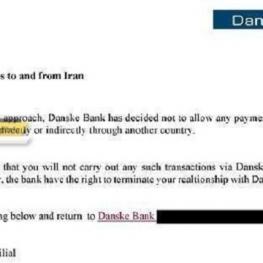 مسدود شدن بی درنگ حساب های بانکی در سوئد در صورت انجام هر گونه تراکنش با مبداء و مقصد ایران