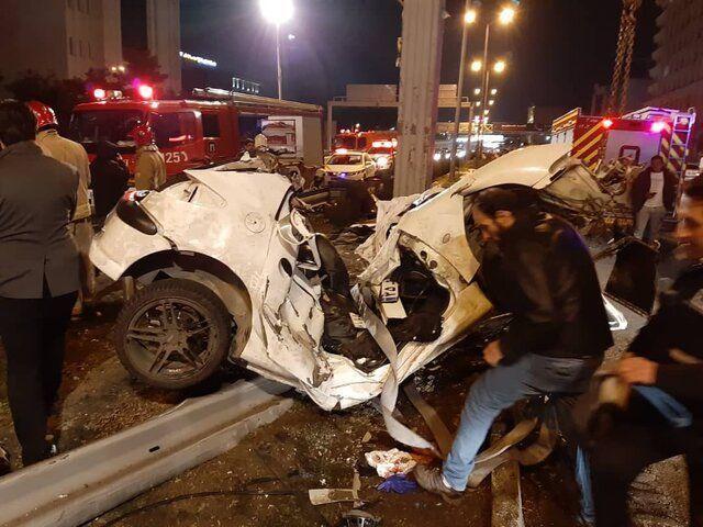 ۲ کشته و ۳ مصدوم در تصادف بامدادی در نیایش