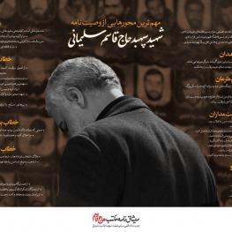 مهمترین محورهایی از وصیتنامه الهی سیاسی سپهبد قاسم سلیمانی