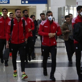 تست کرونا از پرسپولیسیها در فرودگاه امام خمینی