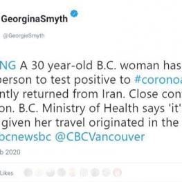 یک زن ایرانی ساکن کانادا هم کرونا گرفت