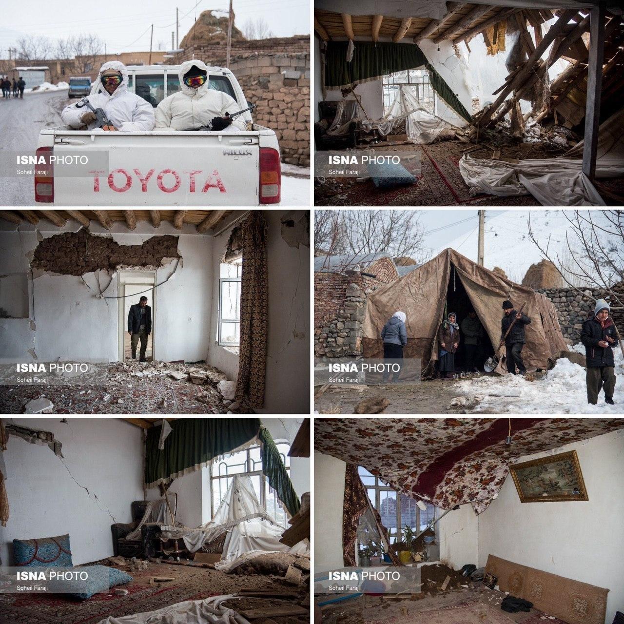 تصاویر: زمین لرزه ۵.۷ ریشتری در بخش قطور، استان آذربایجان غربی