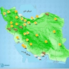 پیشبینی رگبار باران، رعدوبرق و وزش شدید باد در برخی مناطق ساحلی خزر