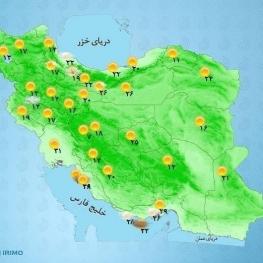 زاگرس مرکزی و ارتفاعات البرز مرکزی رگبار پراکنده باران و رعد و برق و وزش باد خواهیم داشت.