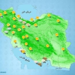 در نوار شمالی کشور تا پایان هفته افزایش نسبی دما داریم.