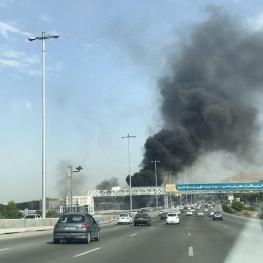آتش سوزی اتوبان تهران-کرج