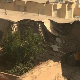خانه استاد مشکاتیان در نیشابور تخریب شد