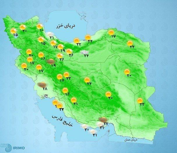 رگبار باران گاهی رعدوبرق و وزش باد شدید پیش بینی میشود.
